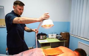 Лечение инфракрасной лампой